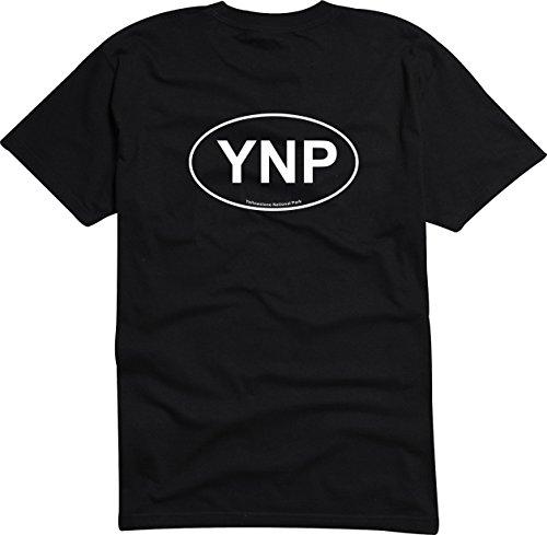 T-Shirt Herren - Yellowstone National Park Schwarz
