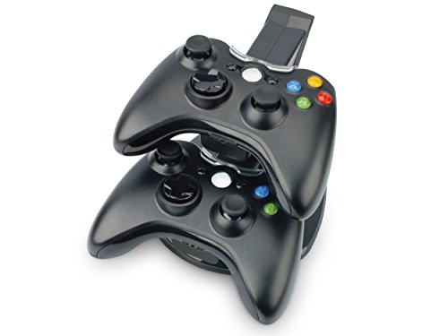 Link-e : Dual ladestation mit LED für XBOX360 Wireless Controller (docking station, ladegerät, konsole) (Charger 360-controller Dual Xbox)