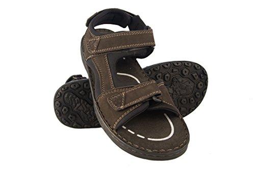 Zerimar sandali da uomo | sandali da trekking da uomo | sandals man hiking | sandali di cuoio da uomo | sandali estivi da uomo | colore marrone taglia 42