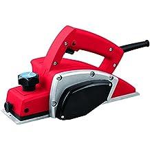 Cepillo eléctrico profesional para madera RDM Quality Tools PRO 70055, 560W, 16500rpm, ancho de cepillado 82 mm, profundidad de cepillado de 0 a 1 mm, conexión para aspirador integrada. Color rojo y negro.