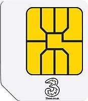 3 Original Three Mobile Broadband Ready to Go 1 GB Preloaded Data Micro SIM for 3G Tablets