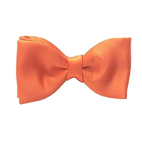 Tangerine Satin Bow Tie by Van Buck