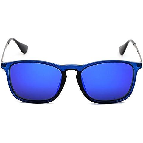 occhiali da sole polarizzati occhiali da sole riflettenti afflusso di persone modelle maschili e femminili grande scatola retro occhiali da sole quadrati