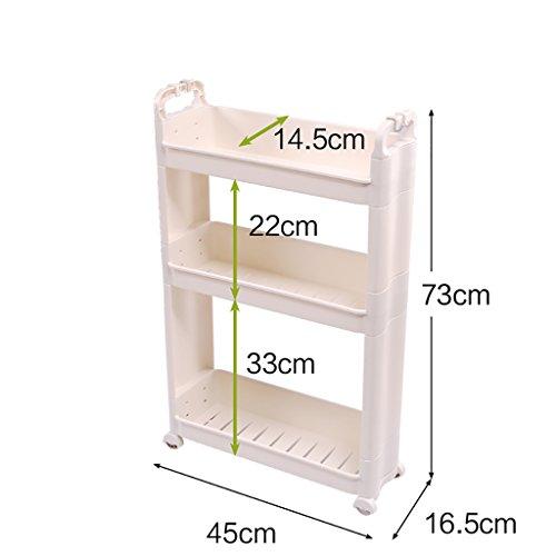 ch aus Kunststoff, Badaufbewahrungsorganisator, Küchenablage, Zwischenablage (Color : White, Size : 45 * 16.5 * 96CM) ()
