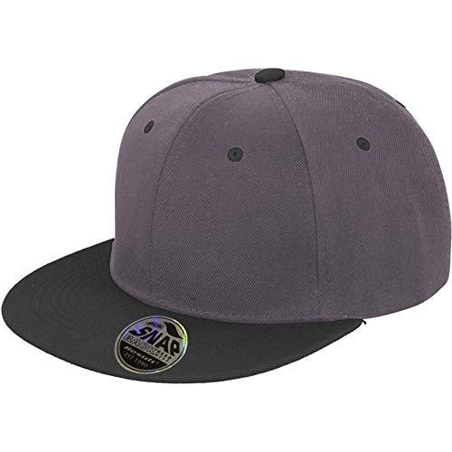 Snapback 2-Tone Design Flat Cap Hip Hop Kappe Schirmmütze Erwachsenen Mütze für Herren und Damen verstellbar (Grau)
