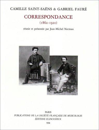 Correspondance (1862-1920) : Soixante ans d'amiti, dition Jean-Michel Nectoux