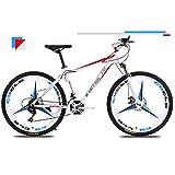 L&U Mountain Bike, 24 Speed Mountain Road Bicycle con Pneumatico da 26 Pollici, Pneumatico Speciale off-Road, Freno a Disco e Forcella a Sospensione Completa per Uomo e Donna,T1WBR