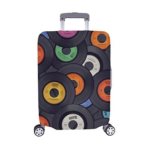 (Nur abdecken) Schallplatten Musik Spandex Staubschutz Trolley Protector case Reisegepäck Beschützer Koffer Abdeckung 28,5 X 20,5 Zoll (Vinyl Abdeckungen Für Alben)