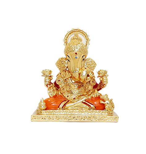 RK Fashion Gold Plated Dagadusheth Ganpati Idol – (9.5×6.5×8.5 cm -Gold) 41iGhhDY2qL