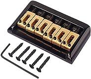 HEALLILY Puente rígido fijo de 6 cuerdas ajustable para fender strat guitarra eléctrica