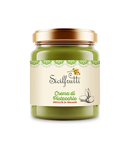 SICILFRUTTI Sweet Pistachio Cream 100% Made in Italy, Spread an Italian Artisan Food Gourmet Delicatessen, Great Taste for Cookies and Cakes, Sicilian Exquisiteness Product