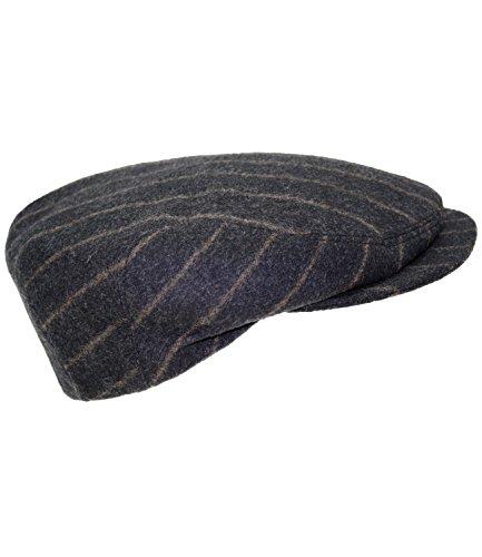 Fiebig Gorra De Hombre Gorro Pantalla Flatcap Gatsby Plana Plano A Rayas Con Cashmere Compartir (FI-42065-S16-HE1-18-61) incl. EveryHead-Hutfibel