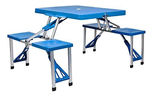 MALATEC Alu Campingtisch Koffertisch mit Stühlen Koffergarnitur Sitzgarnitur Klappbar mit Tragegriff 7894