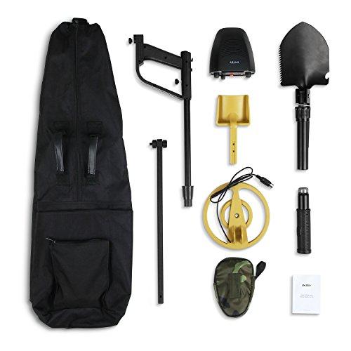 INTEY-Metal-Detector-Waterproof-Metal-Detectors-Starter-Kit-with-Pinpointer-Discrimination-Mode-Complimentary-Multi-Function-Folding-Shovel