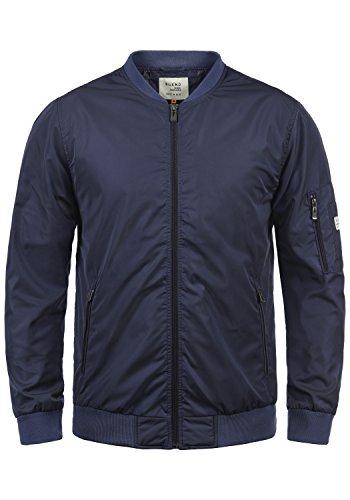 BLEND Craz Herren Bomberjacke Übergangsjacke Jacke mit Stehkragen aus hochwertigem Material, Größe:L, Farbe:Mood Indigo (74648)