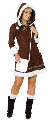 (Orlob Eskimo Damen Kostüm als Inuit verkleiden zu Karneval Fasching Gr.36)