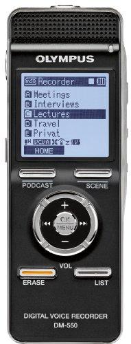 Olympus DM-550 Digitaler Rekorder mit Flash-Datenspeicher 4 GB WMA MP3 Schwarz -