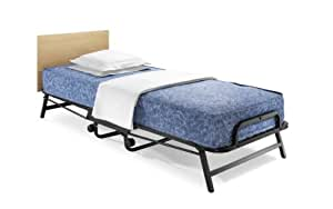 JAY-BE Crown Single Folding Bed with Windermere Antimicrobial, Water-Resistant Contact Sprung Mattress