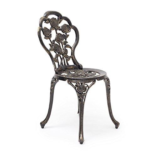 Relaxdays Bistrostuhl HBT 81 x 41 x 41 cm Gartenstuhl aus Aluminium Stuhl für Terrasse und Garten...