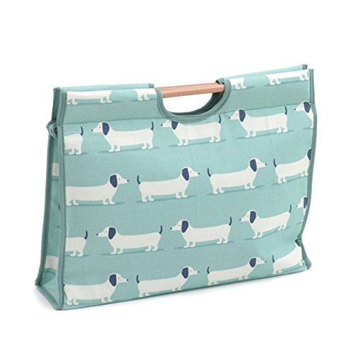 d//w//h Hobby Gift Hound Dog Duck Egg Craft Bag with Wooden Handle 11 x 42 x 30cm
