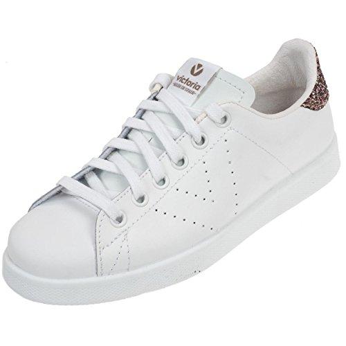 Chaussures Deportivo Basket Piel Rosa - Victoria Blanc