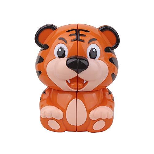 Lecc Toy Tiger Cubes 2X2x2 Zauberwürfel Glatte Geschwindigkeit Verdreht 3D Puzzle-Spiel Erwachsene Dekompression Bildung Aufkleber Puzzle Put Lernspielzeug 2. Ordnung