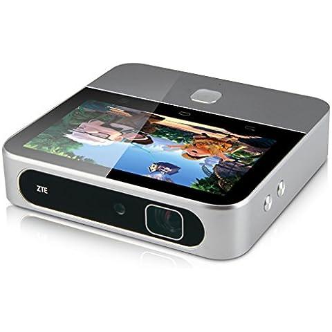 ZTE SPRO 2 WiFi Mini Proiettore Portatile DLP -Android 4.4 OS 2.1GHz Quad Core RAM 2GB+ROM 16GB Auto Focus 5000:1 Contrast ratio HDMI/USB/Audio/SD Miracast