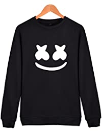 SIMYJOY Unisex Marshmello Sweatshirt DJ Fans Pullover EDM Elektronische Tanzmusik Jumper Coole Hip Pop Top Damen Pullover Herren