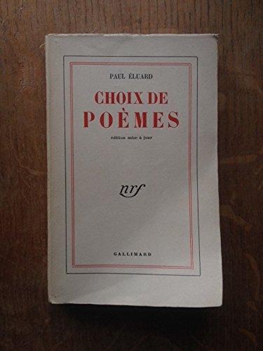 Paul Eluard. Choix de poèmes : . Édition mise à jour