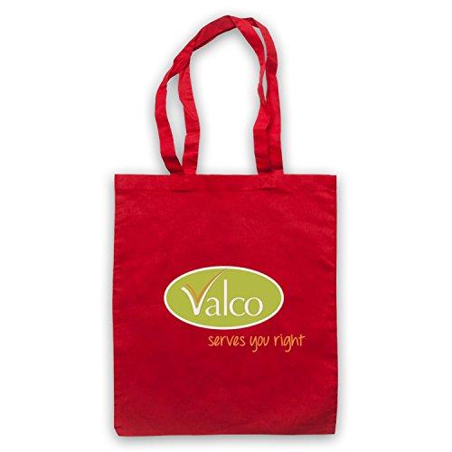Inspiriert durch Trollied Valco Serves You Right Inoffiziell Umhangetaschen Rot