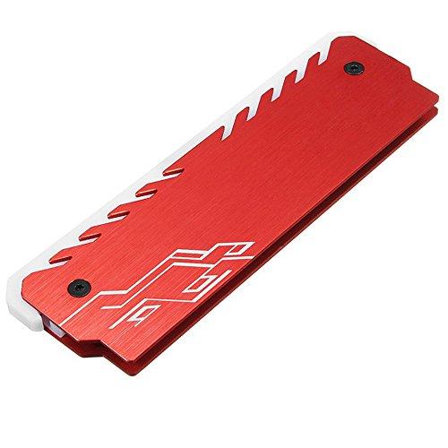 Haihuic Speicher RAM RGB Kühler DDR Kühlkörper Kühlweste Fin-Strahlung Dissipate für DIY PC Spiel Overclocking MOD DDR3 DDR4 |rot -