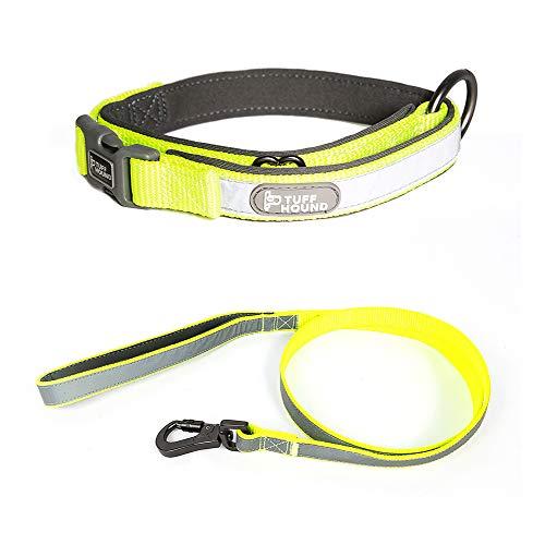 MIKLL Hundehalsband und Führleine,3 M reflektierender Full Neck Strap, Hochfestes Nylonmaterial,Geeignet für Outdoor-Training und Nachtwandern,Für kleine und große Hunde -