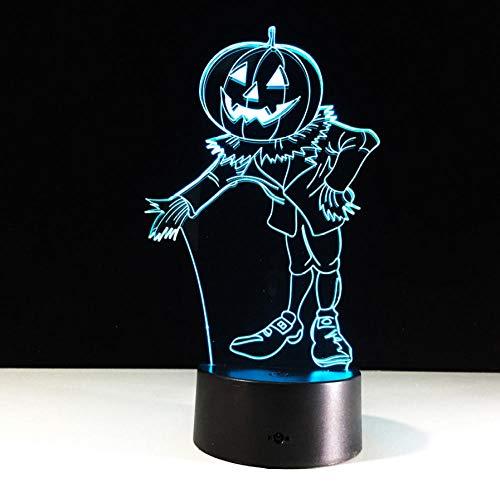 Baby Illusion Kostüm - Halloween Kostüme Kürbisse 3D Nachtlicht Acylic Visuelle LED USB Schreibtisch Tischlampe Für Hauptatmosphäre Lampe Baby Schlaf Beleuchtung