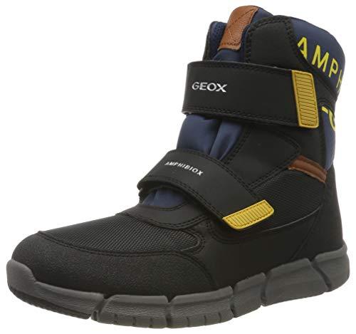 Geox J FLEXYPER Boy B ABX B, Botas de Nieve para Niños, Negro Black/Navy C4429, 39 EU