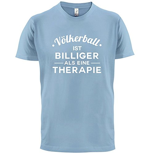 Völkerball ist billiger als eine Therapie - Herren T-Shirt - 13 Farben  Himmelblau