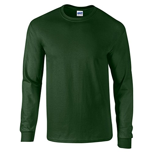 Ultra Cotton Classic Fit Adult T-Shirt - Farbe: Forest Green - Größe: M (Green Heather-crew-t-shirt)