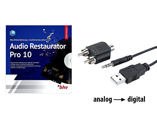 Q-Sonic Audio Grabber: Audio-Digitalisierer & MP3-Recorder mit Restaurator-Software (USB Aufnahme) (8mm Converter Video)