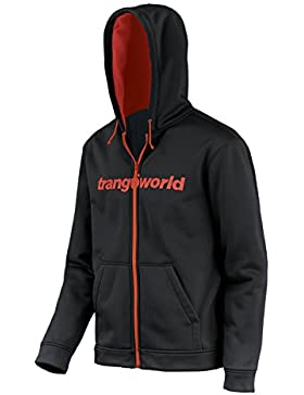 Trangoworld Ripon Chaqueta, Hombre, Negro / Naranja Flúor, S