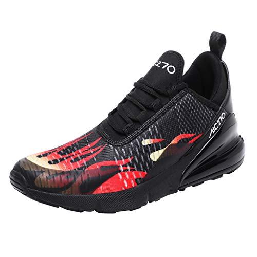 COZOCO Herren Sneakers Mesh Ultraleichte atmungsaktive Schuhe Sportliche Laufschuhe(rot,40 EU)
