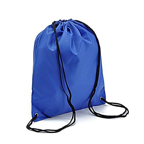 BINGONE coulisse zaino borsa in nylon per PE Scuola Casa Viaggio Sport pieghevole Storage, Royalblue