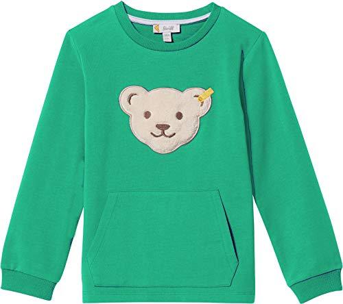 Steiff Jungen Sweatshirt Quietsche Bär L00191 3109 (86, Grün) -