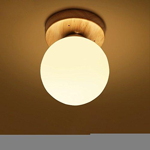 PIGE Simple bois chevet de style japonais moderne Creative LED salon balcon de la chambre couloir Nordic Pendant Lamp 3136