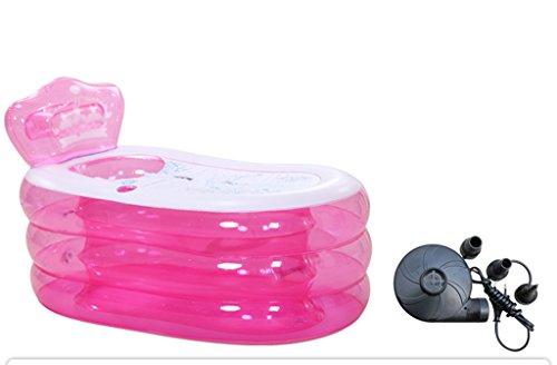 Multicolor más grueso de plástico adulto plegable bañera inflable bañera de baño...