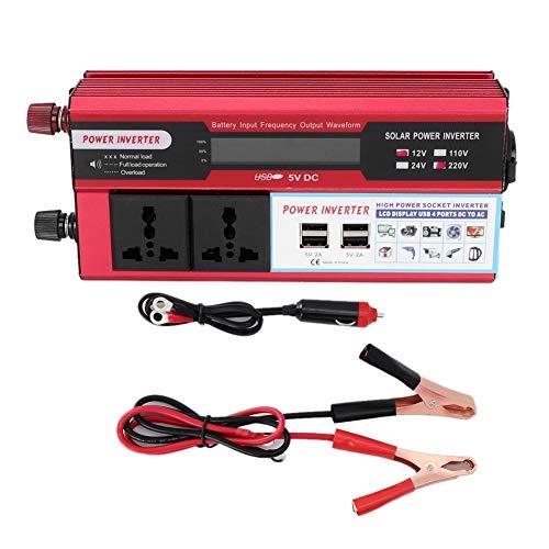 Inverter energia solare, caricabatterie USB con display digitale 4 telefono DC 12V/DC 24V 5000W per auto Wave Wav