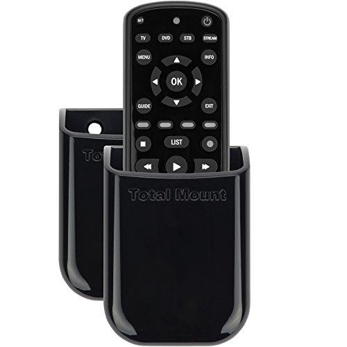 TotalMount Universelle Halterung für eine Fernbedienung TV Wandhalterung Tischhalter Aufbewahrungs Kasten für 1 Fernbedienung im Dopplepack (Insignia Dvd Tv)