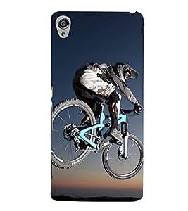 Cycling 3D Hard Polycarbonate Designer Back Case Cover for Sony Xperia XA :: Sony Xperia XA Dual