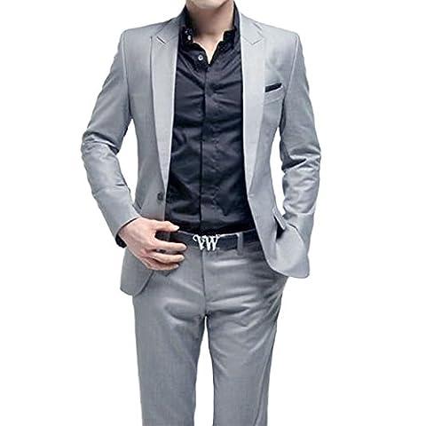 Costume Homme Formel Deux-Pièces Une Bouton Business Mariage Slim Fit Blazer Mode Elégant Classique