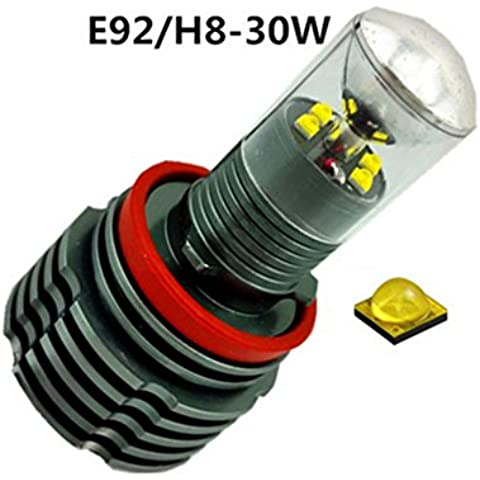Eaglerich caso 2 PCS 30W LED marcatore Angel Eyes Bulbi per BMW E92 H8