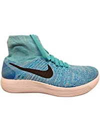 Nike Women Lunarepic Low Flyknit 2 Corriendo golpe caliente black-aluminium-university blue Tama?o 6.0 US