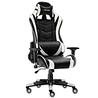 JL Comfurni Gaming Chair Office Desk Chair Ergonomic Swivel PC Computer Chairs Heavy Duty Recliner